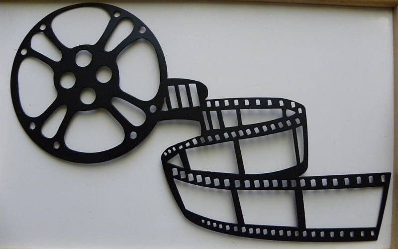 Metal Wall Art Movie Theater Home Decor Movie Reel. $29.99