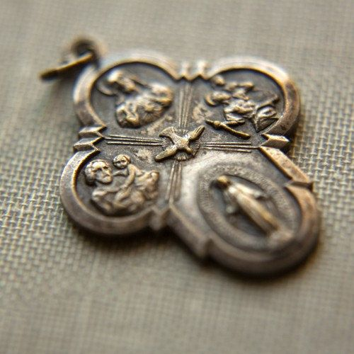 vintage catholic medal  My Hubby wears it n I believe it protects