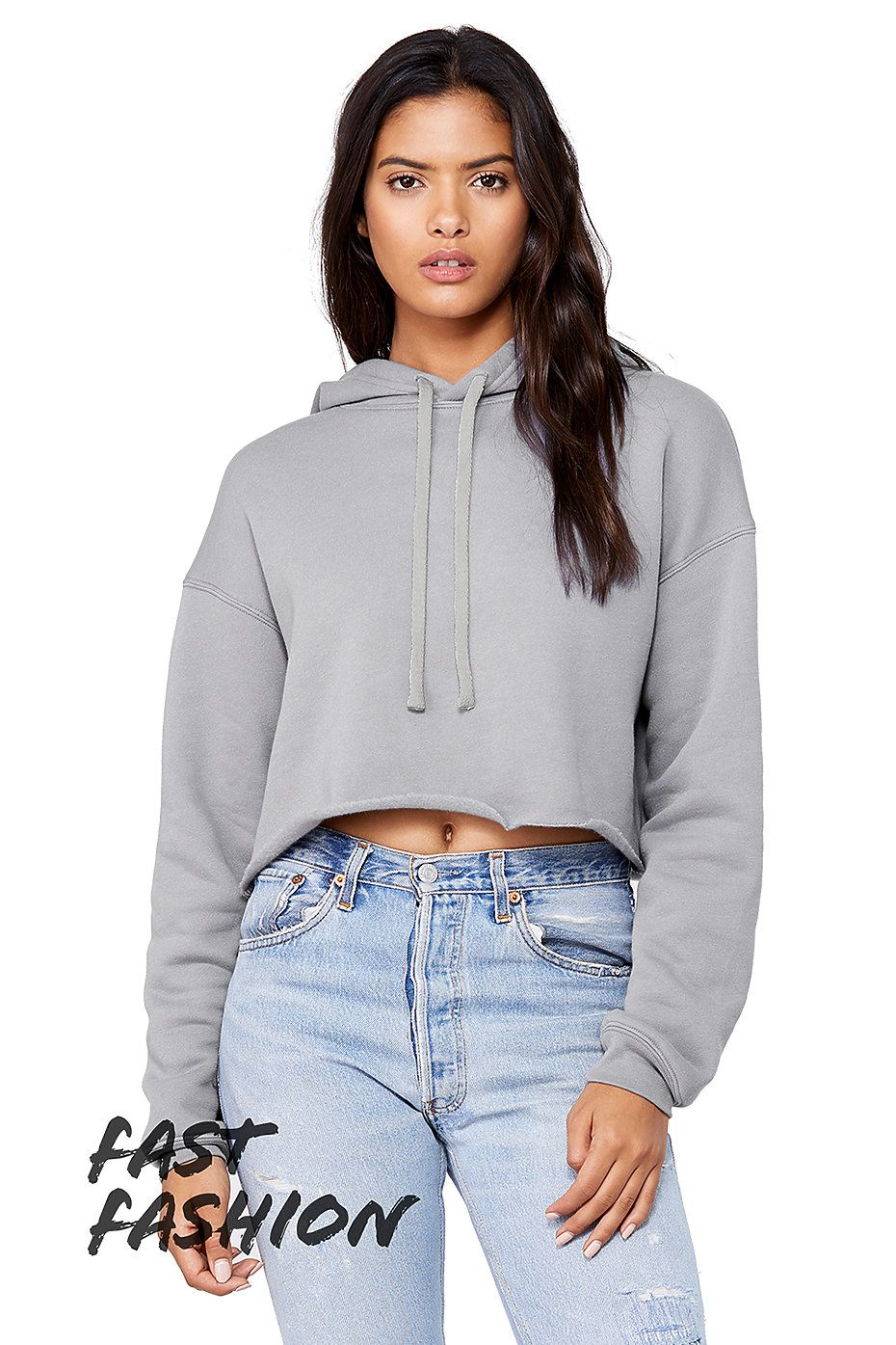 Canvas Ladies Cropped Fleece Crew Bella