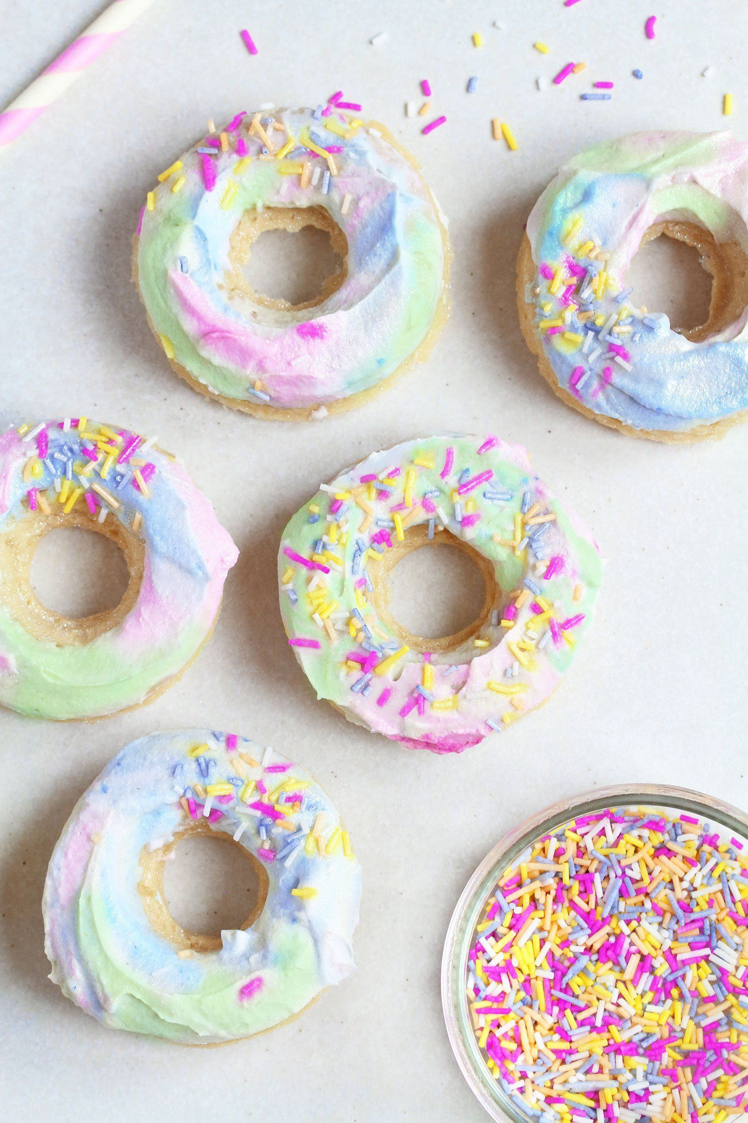 Photo of Unicorn Doughnuts – Vegan & Gluten-free – UK Health Blog – Nadia's Healthy Kitch… – Ostern