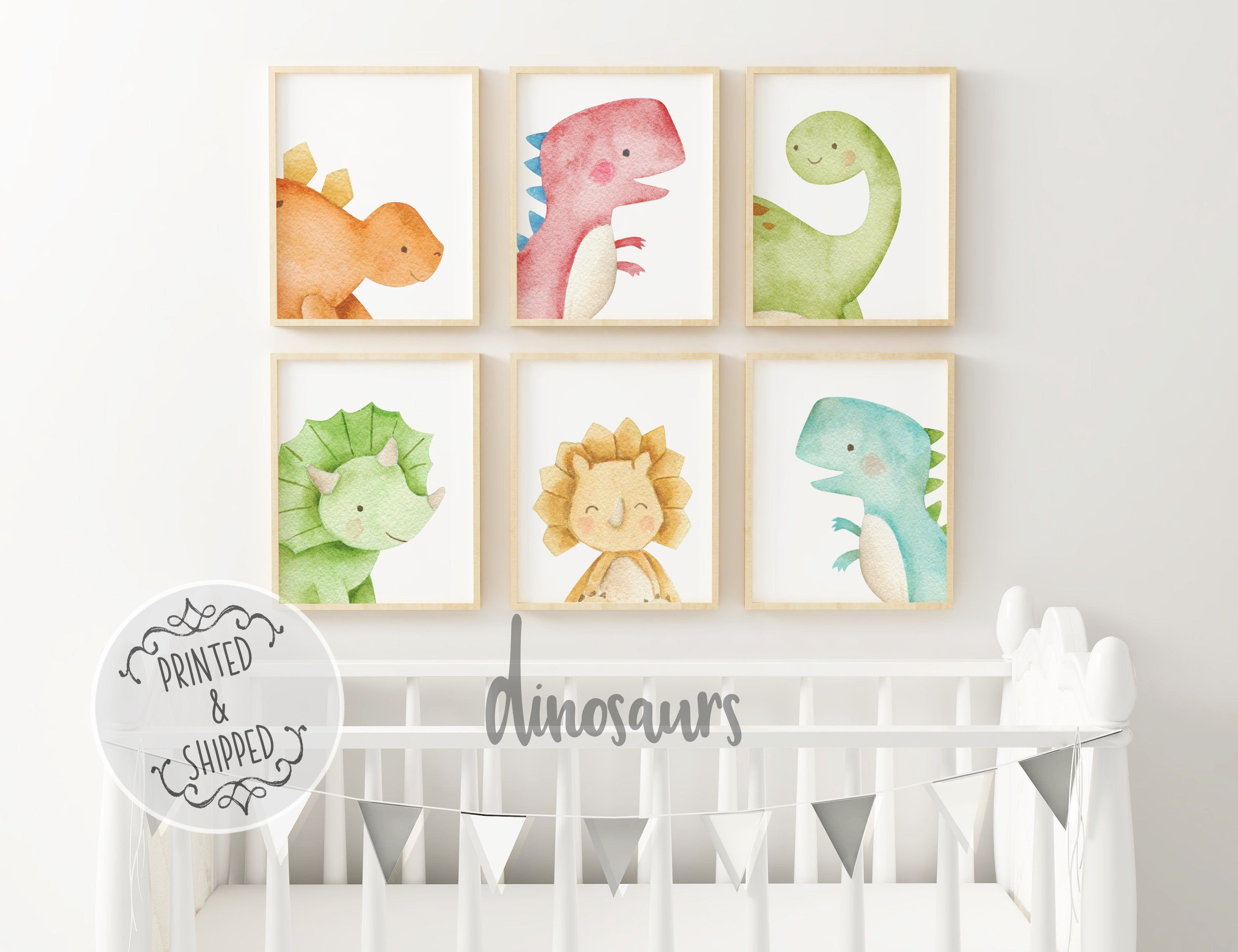 Dinosaur Nursery Prints