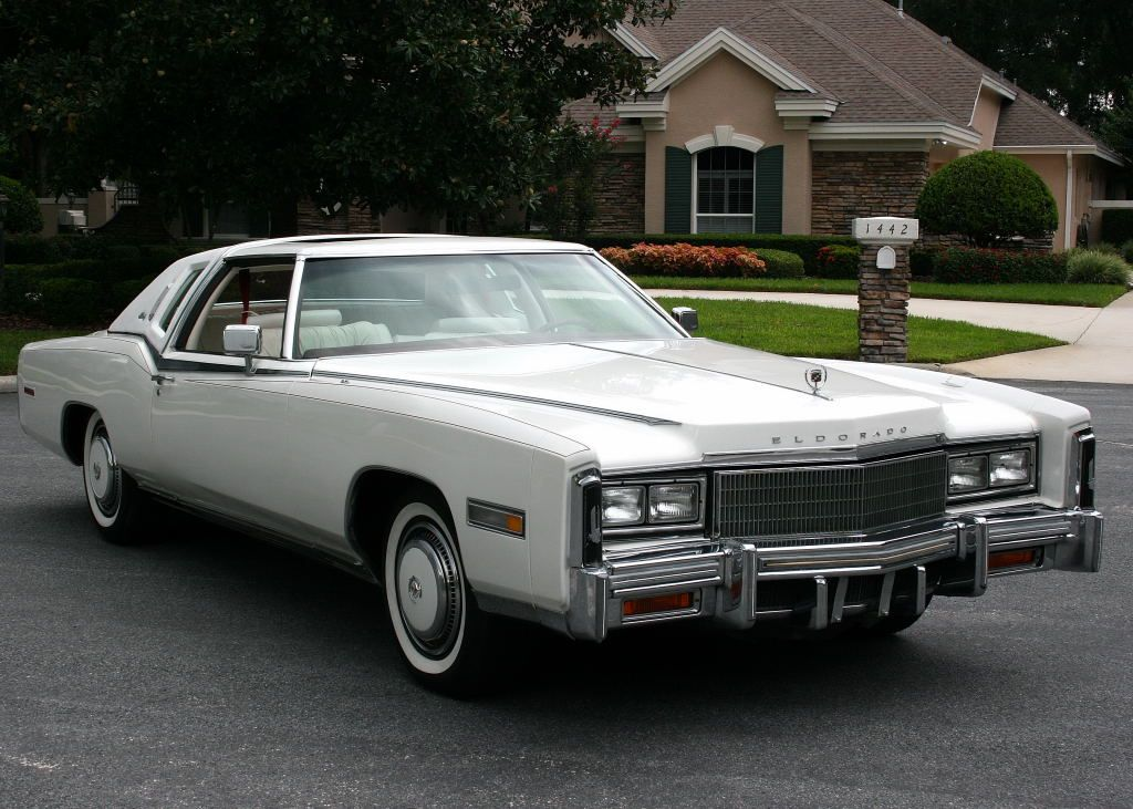 1977 cadillac eldorado in cotillion white american. Black Bedroom Furniture Sets. Home Design Ideas