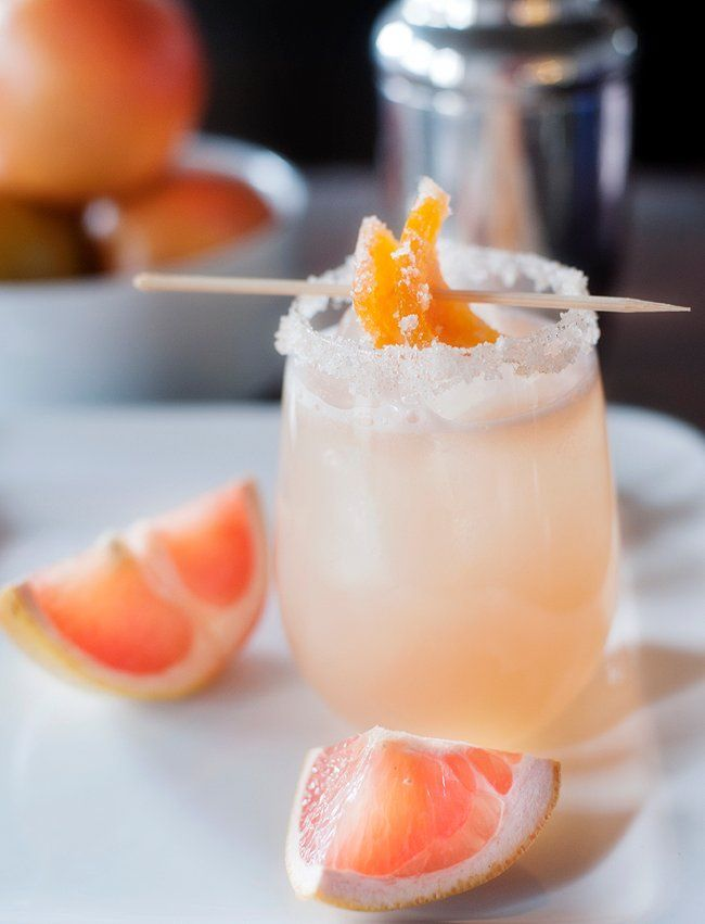 candied grapefruit cocktail #grapefruitcocktail