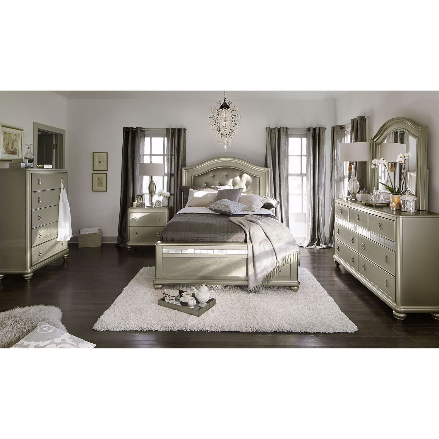 platinum resplendence the serena king bed offers an air of
