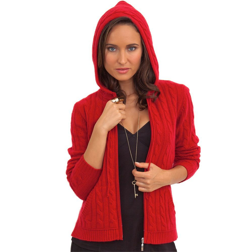 Luigi Baldo Women's Italian Cashmere Hooded Sweater | Overstock ...