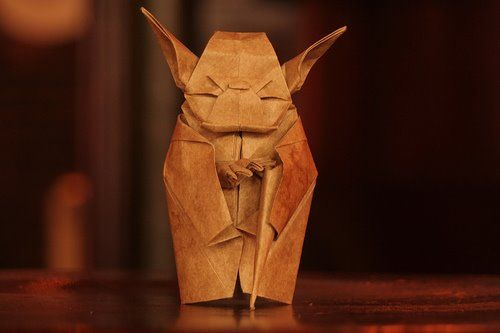 origami-yoda.  Fold or Don't Fold.  There is no cellotape.