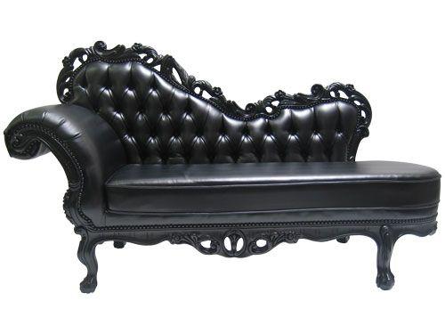 black chaise | Prague-Black-Chaise-Lounge.jpg  sc 1 st  Pinterest : black leather chaise longue - Sectionals, Sofas & Couches