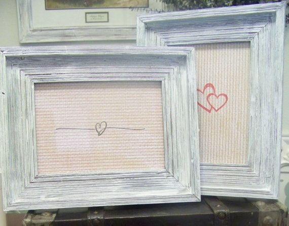 2 rustic whitewashed wood frames 5x7 by sugarplumcottage on etsy 3600 - Whitewashed Picture Frames