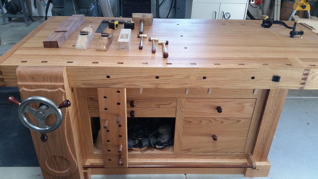 Mark s Shaker Workbench   The Wood Whisperer. Mark s Shaker Workbench   The Wood Whisperer   workbenchs