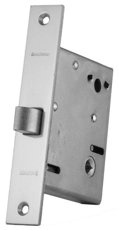 Baldwin 8540 Mortise Lock Small Case Polished Chrome