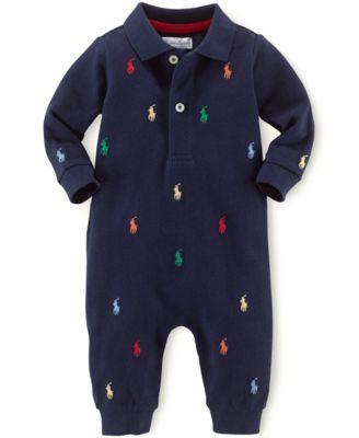 d28d5716 Ralph Lauren Baby Boys Schiffli Coverall - French Navy 12 months ...
