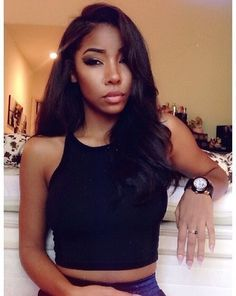 Black Weave Hairstyles Prepossessing Side Part Black Weave  Google Search  Prom Hair  Pinterest