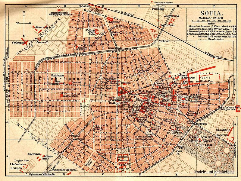 1908 Map Of Sofia Sofia How To Plan Map