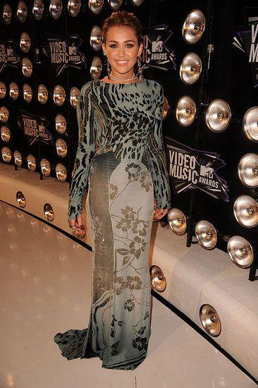Miley cyrus at VMA 2011 in animal prints