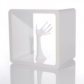 Regal Cube Club 45x45 cm Weiss Hochglanz White is the new black