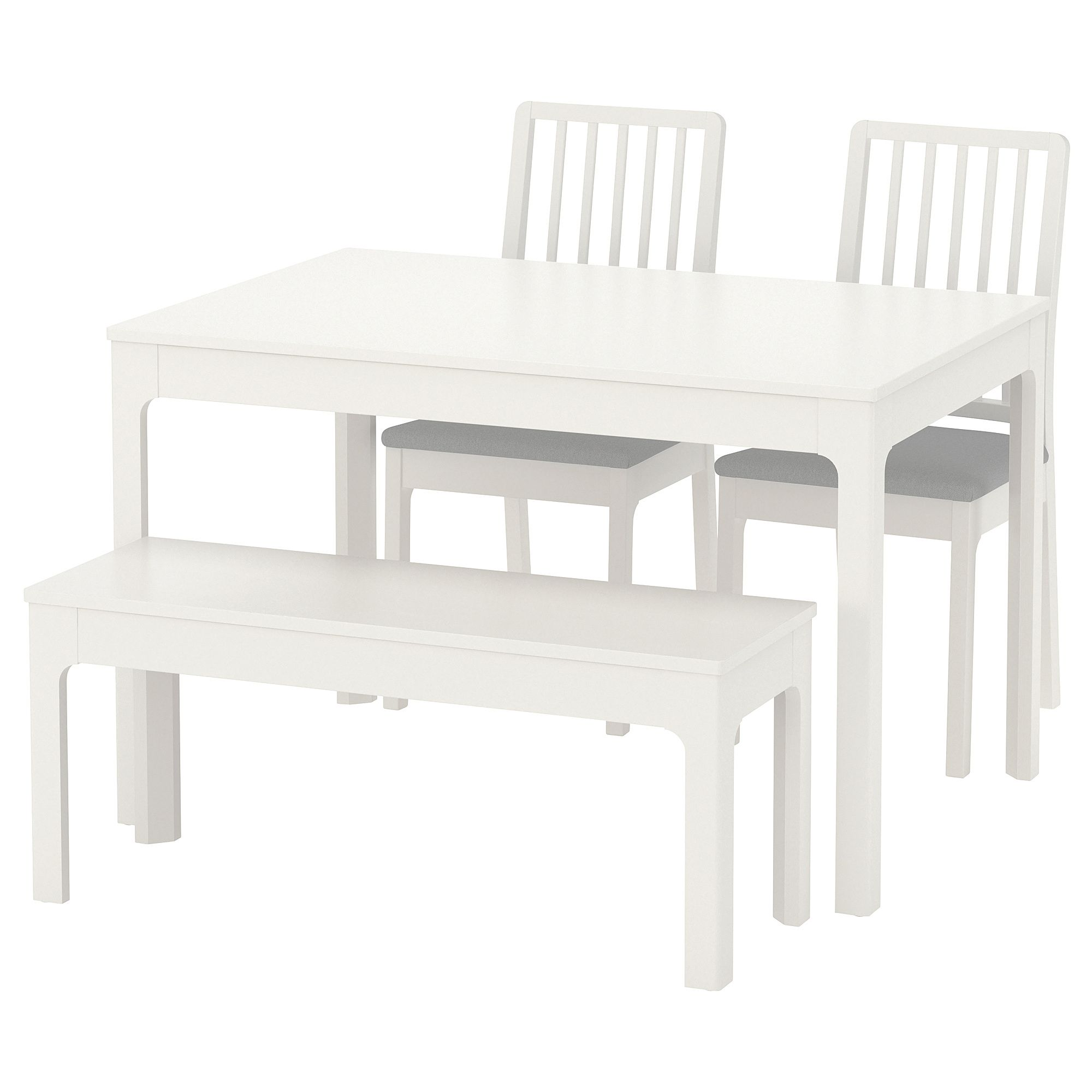 Miraculous Ekedalen Ekedalen Table With 2 Chairs And Bench White Unemploymentrelief Wooden Chair Designs For Living Room Unemploymentrelieforg