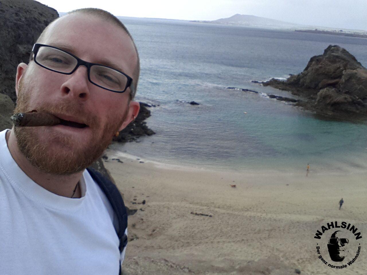 Lanzarote - Playa Papagayo mit Zigarre