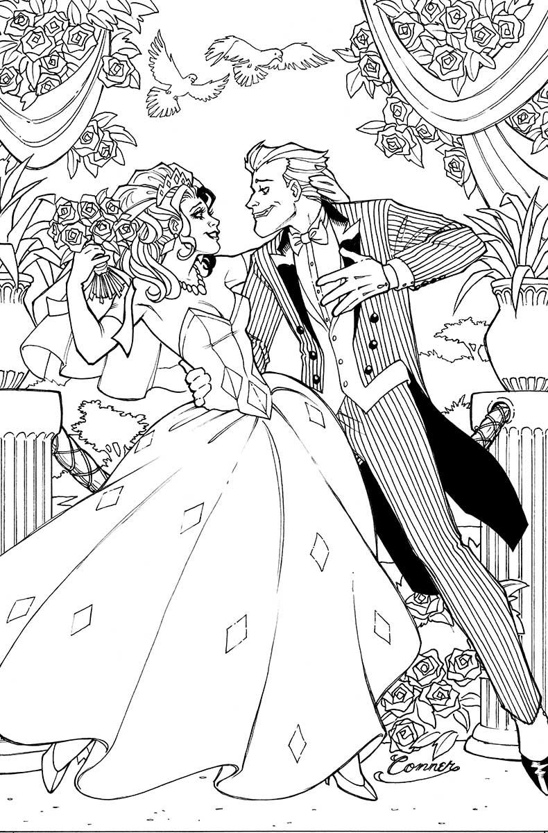 Free coloring pages joker
