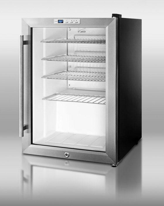 Summit Scr312l Countertop Beverage Cooler With Glass Door