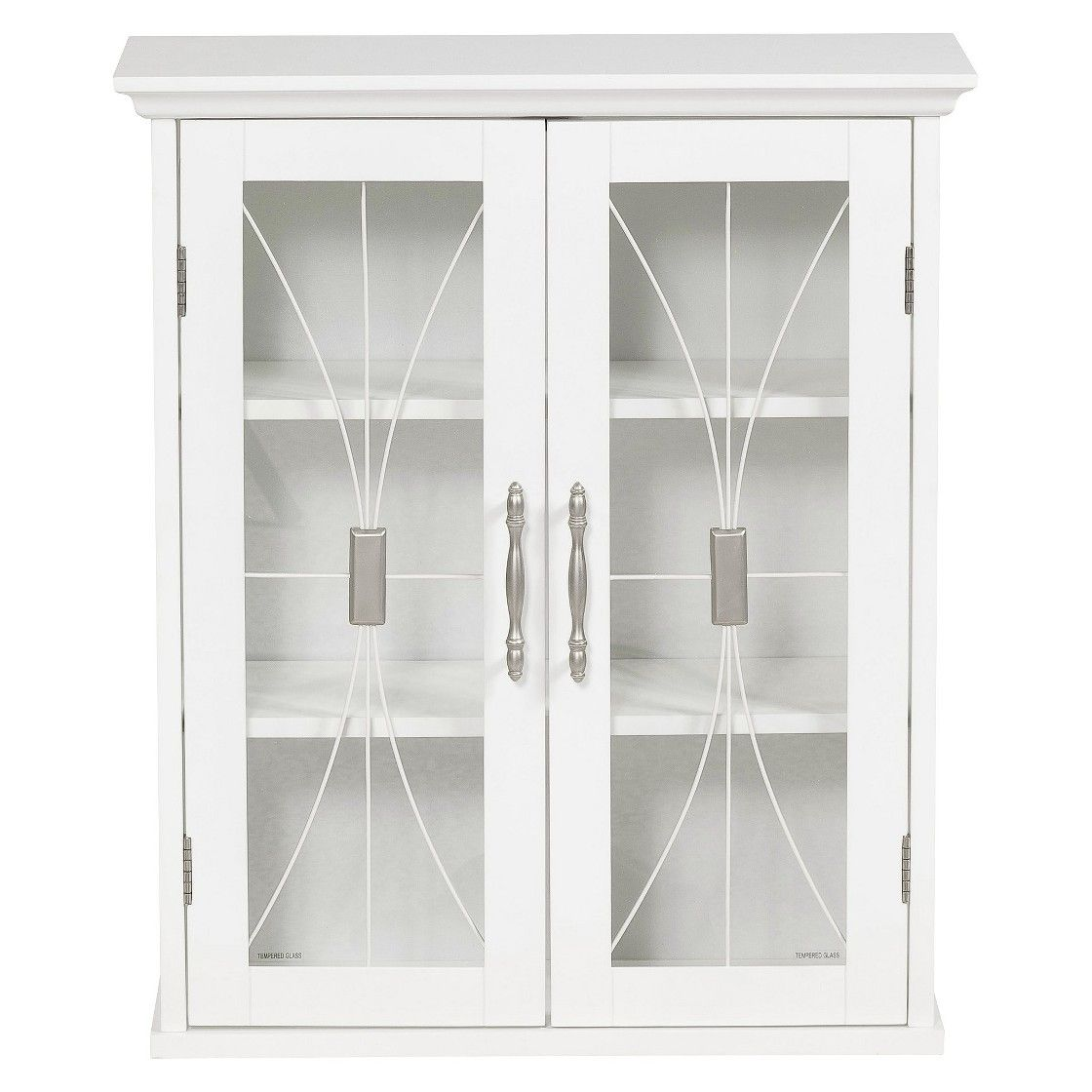 Symphony Wall Cabinet White - Elegant Home Fashions  Wall cabinet