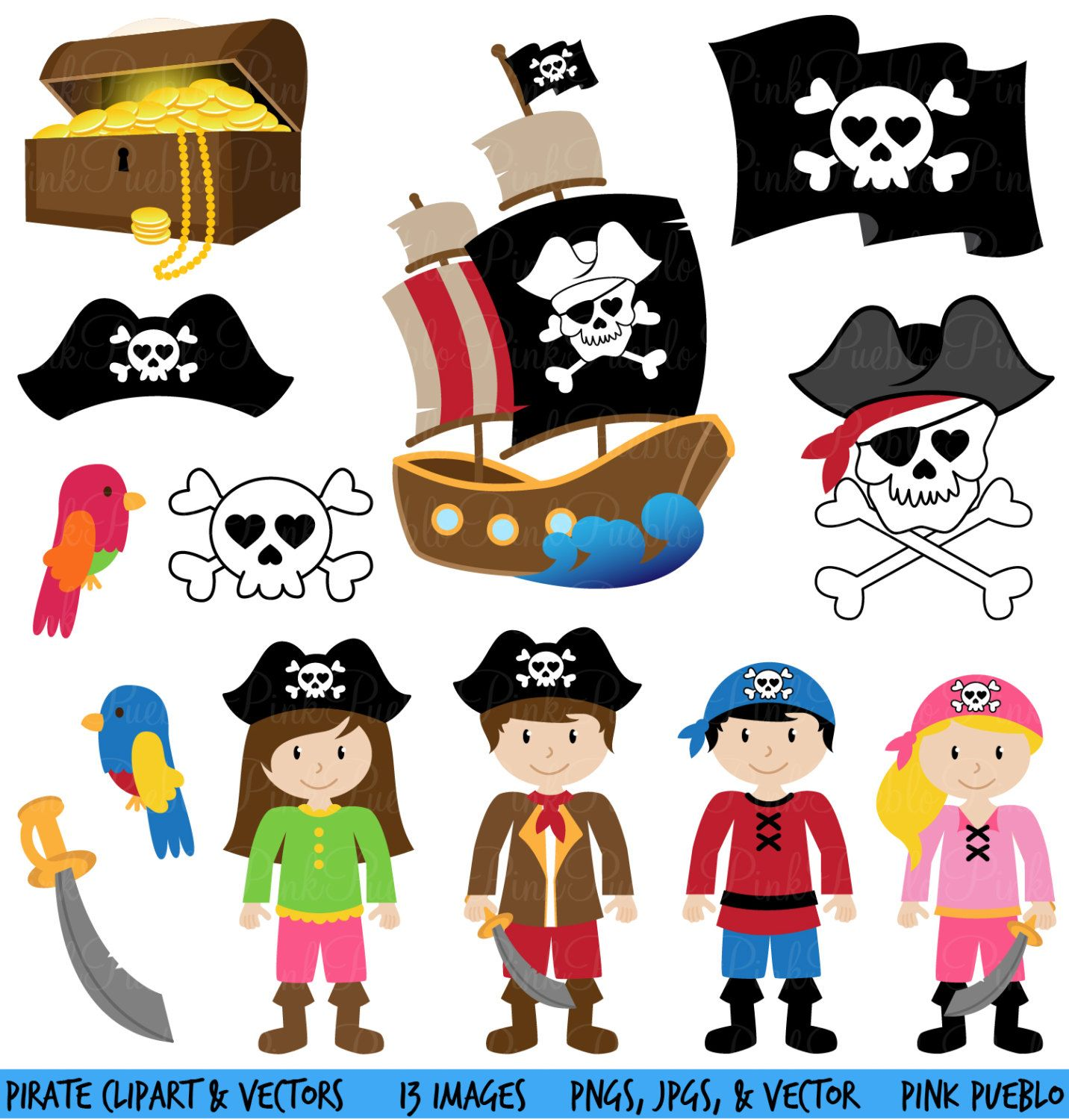 Pirate Clipart Clip Art and Vectors mercial and Personal Use