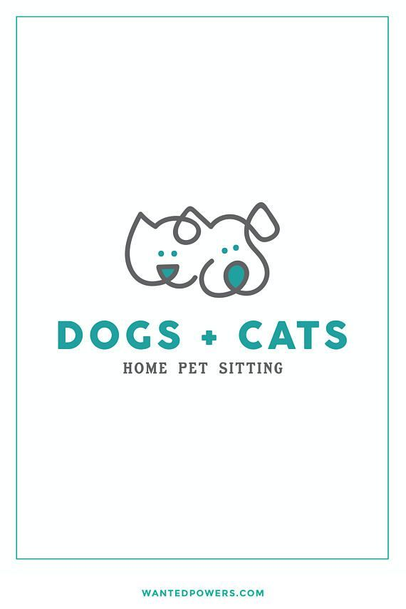 Happy Dog Logo Pet Logo Animal Logo Design Puppy Logo Modern
