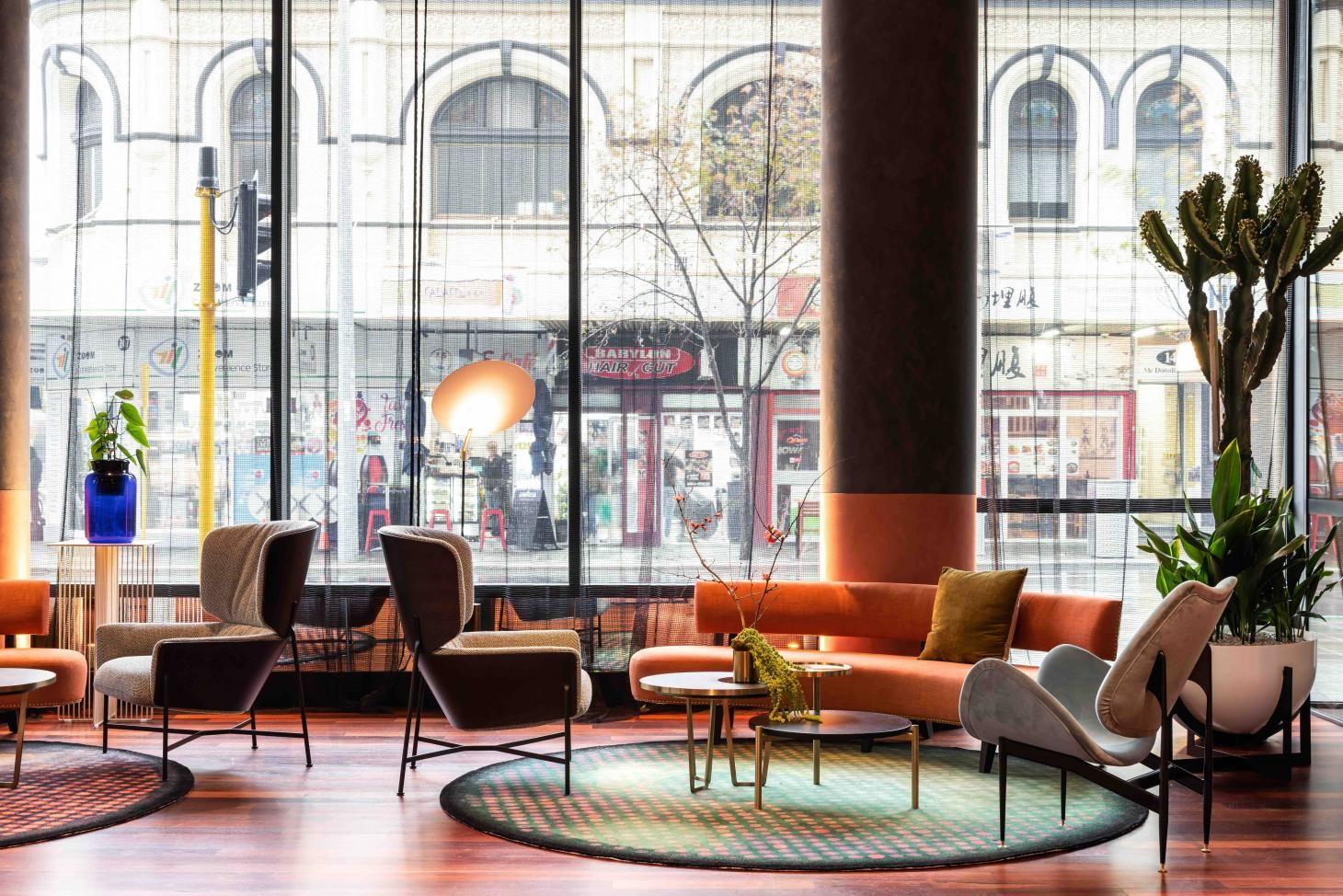 Pleasing Qt Perth Australia Sitting Area Blue Dining Room Ibusinesslaw Wood Chair Design Ideas Ibusinesslaworg