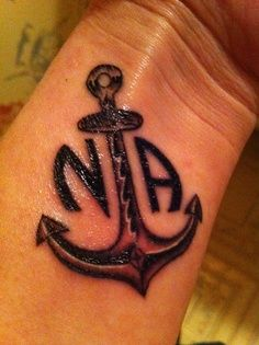 Na is my anchor it 39 s what keeps me grounded recovery for Drug addiction tattoos