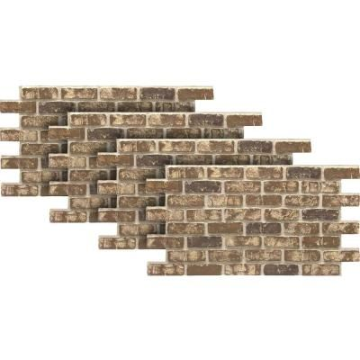 Nextstone Country Ledgestone 43 5 In X 15 5 In Faux Stone Siding Panel In Himalayan Brown 4 Pack Clp H In 2020 Faux Brick Panels Brick Paneling Faux Stone Siding