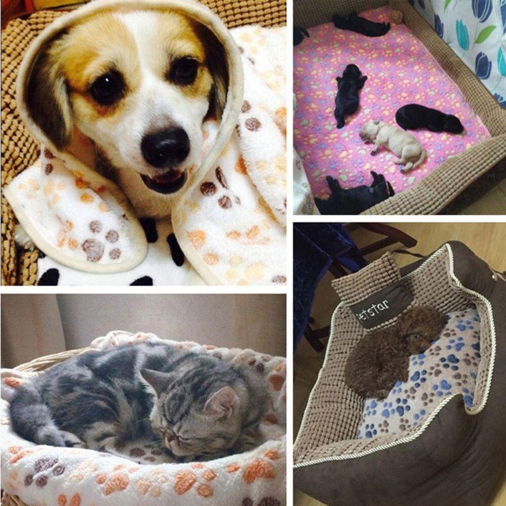 OOFWY Pets Dog Puppy Warm Nest Bed Pets Cat Soft Fleece Pad