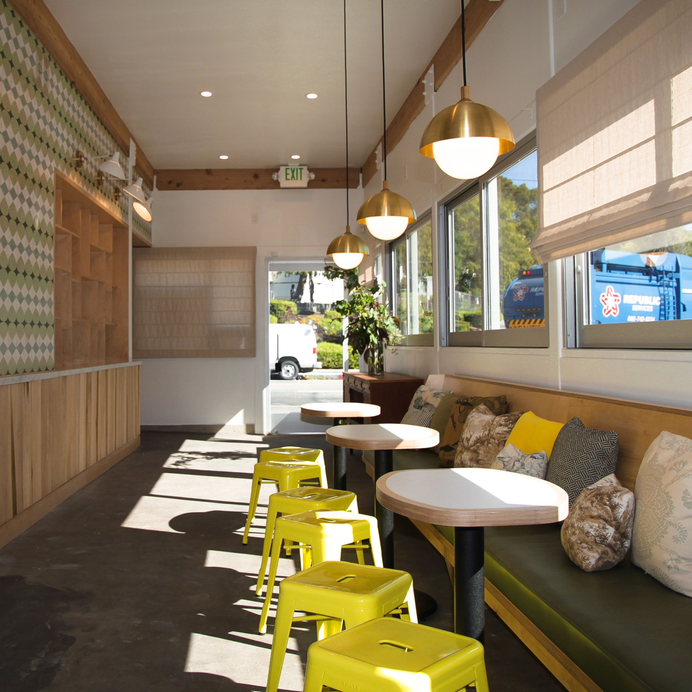 This cafe owned by Moby in Los Angeles was designed by local firm