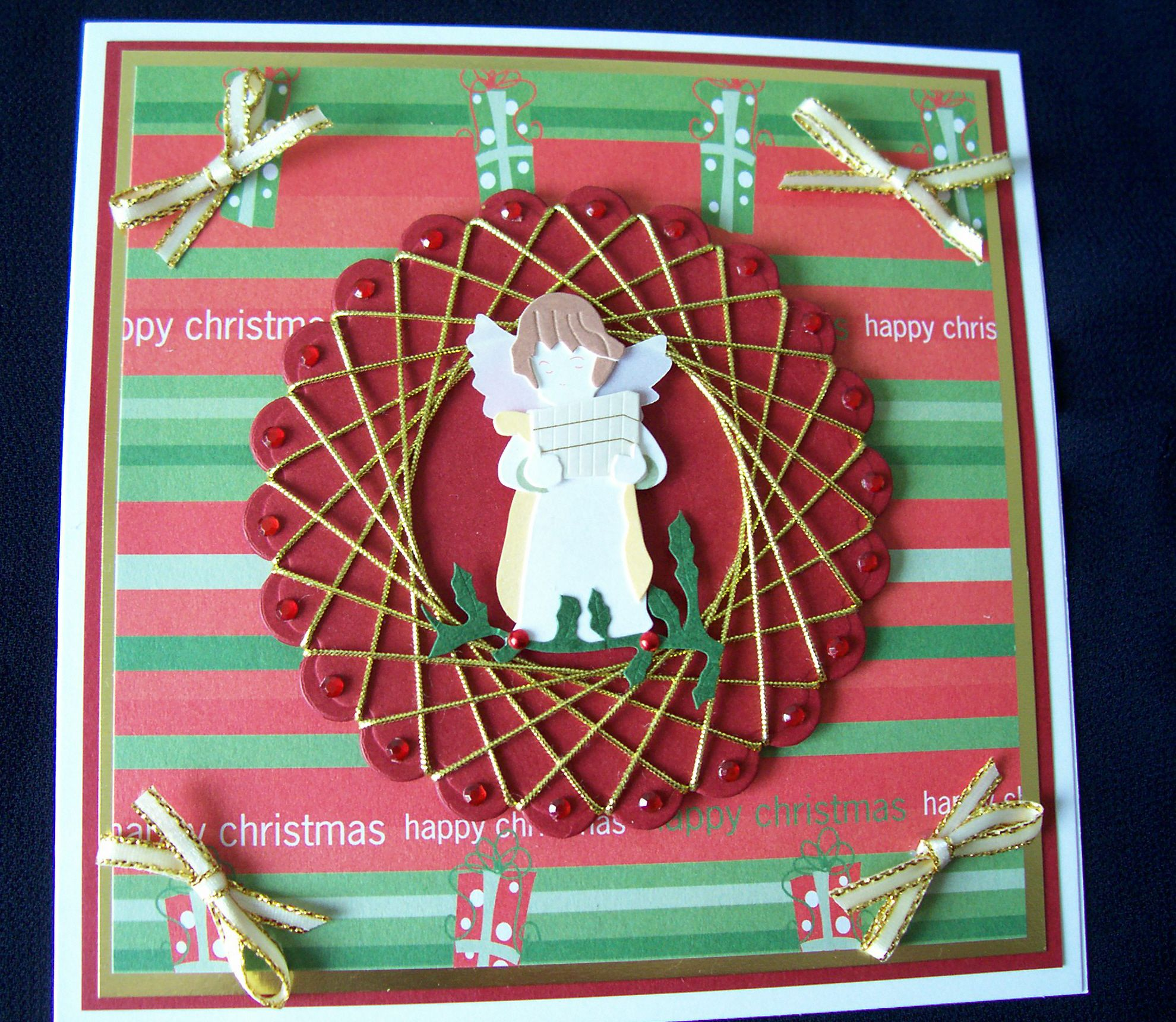 Spirelli bows and bling Spirelli Cards and Crafts