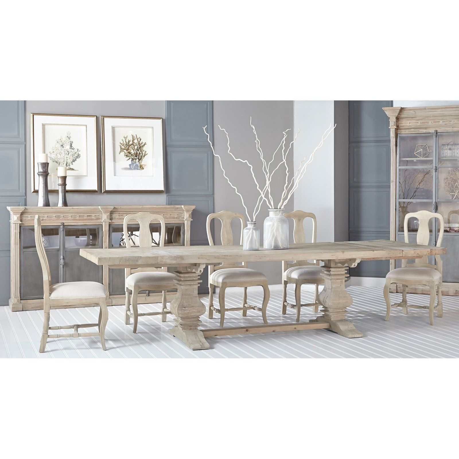 orient express furniture bella antique monastery 5 piece dining set