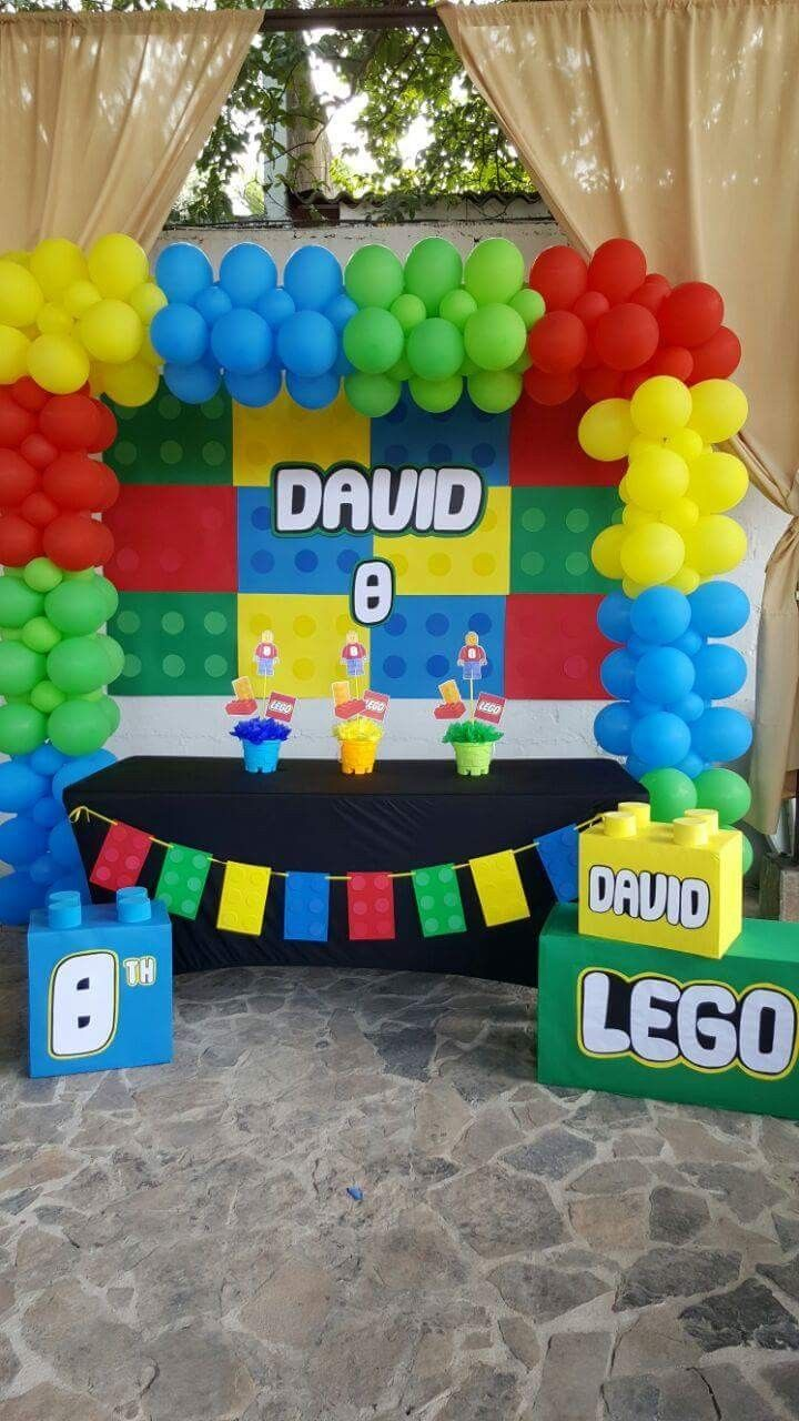 Pin By Constanza Jofre On Lego Theme Party Lego Birthday Party Lego Party Decorations Lego Themed Party
