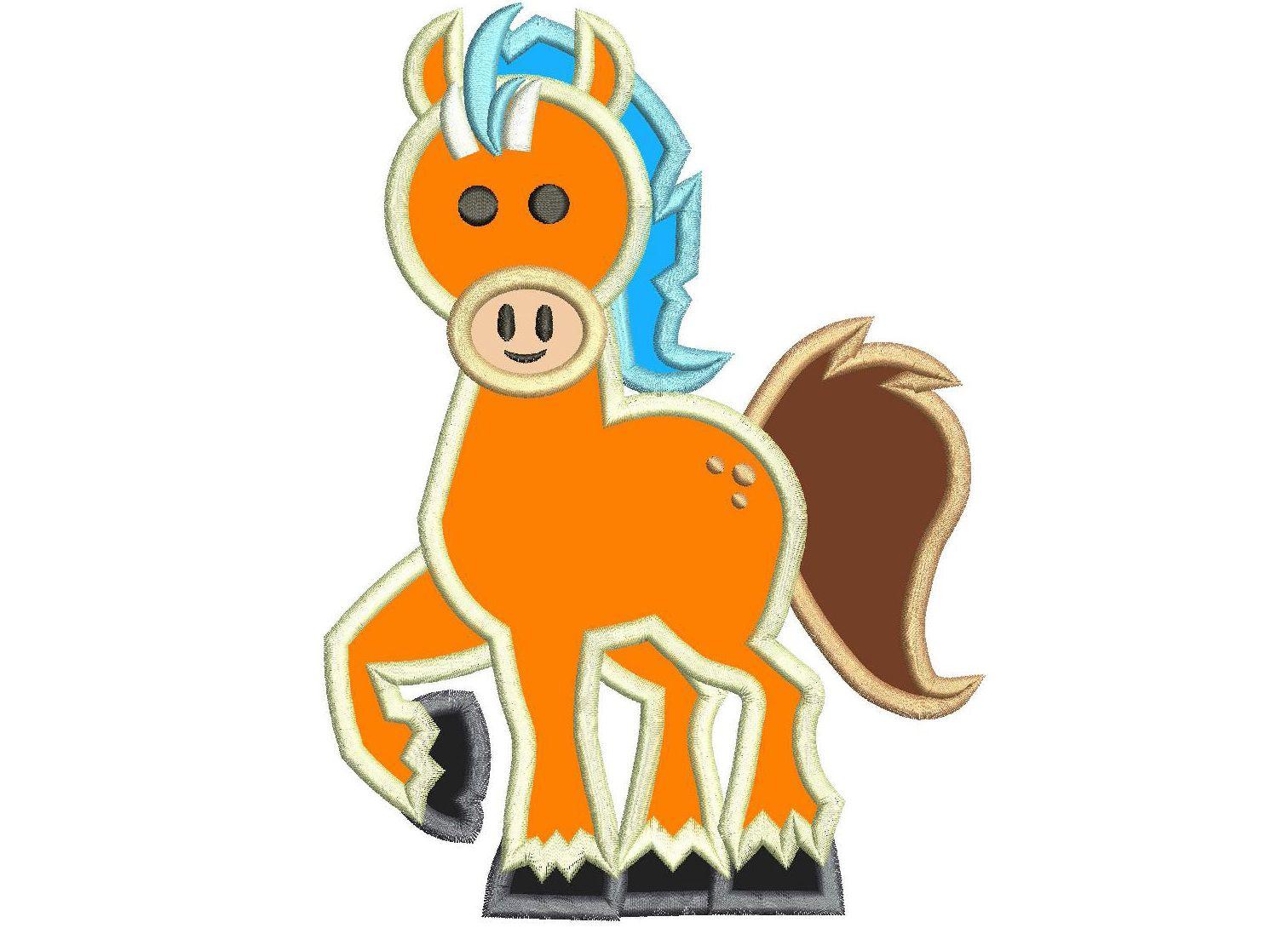 Clod the Horse Nella Princess Knight Applique Design