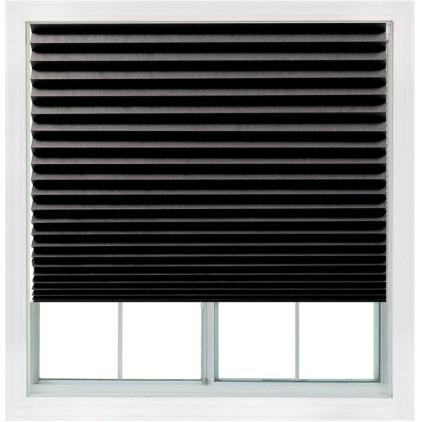 Redi Shade Black Blackout Cordless Paper Window Shade