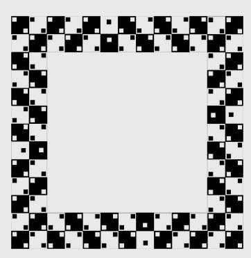 seasick square (the square is actually square, but looks bent due to the little cubes)