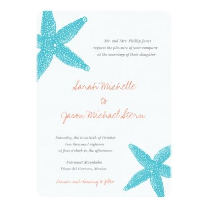 beach starfish wedding invitation beach wedding invitations beach