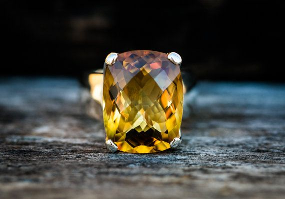 Citrine Ring - Citrine Ring - Citrine  Ring size 8.5 - november birthstone- Citrine Ring - beautiful citrine sterling silver - Large Citrine