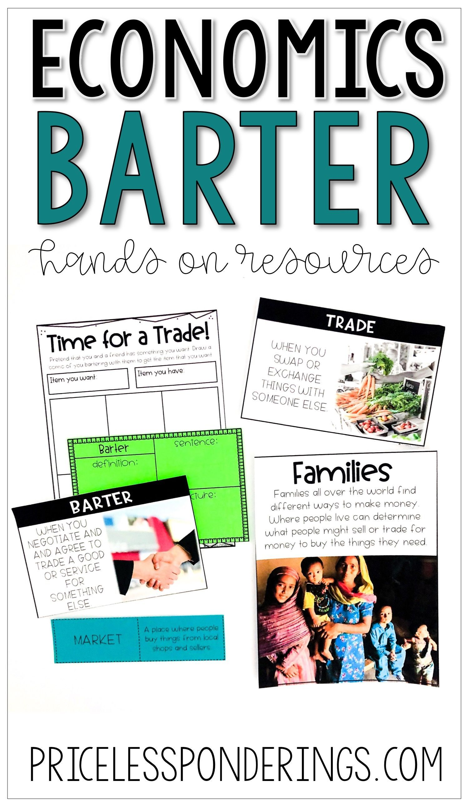 small resolution of Do you need economic lesson plans for 2nd grade? These bartering and  trading printabl…   Economics lessons