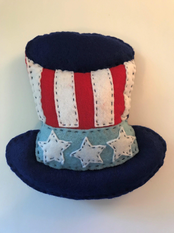 Felt Uncle Sam S Hat Plushie Pattern