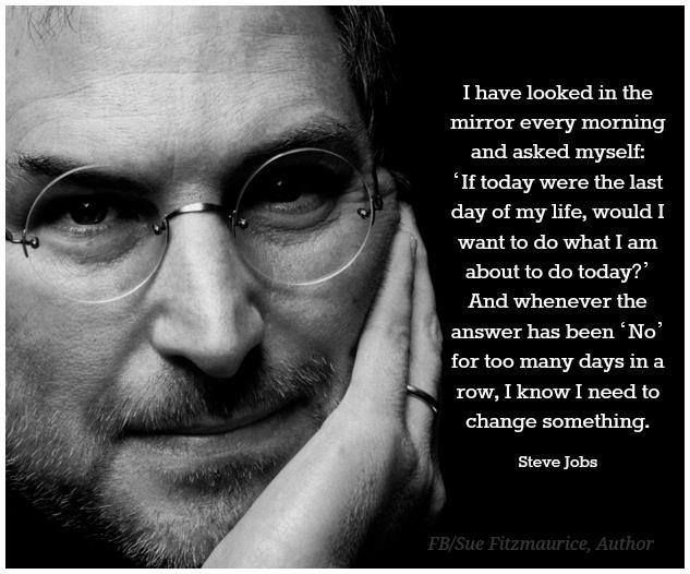 """I have looked in the mirror every morning..."" Steve Jobs"