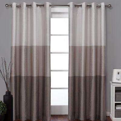 Latitude Run Newton Light Filtering Curtain Panels Color Taupe