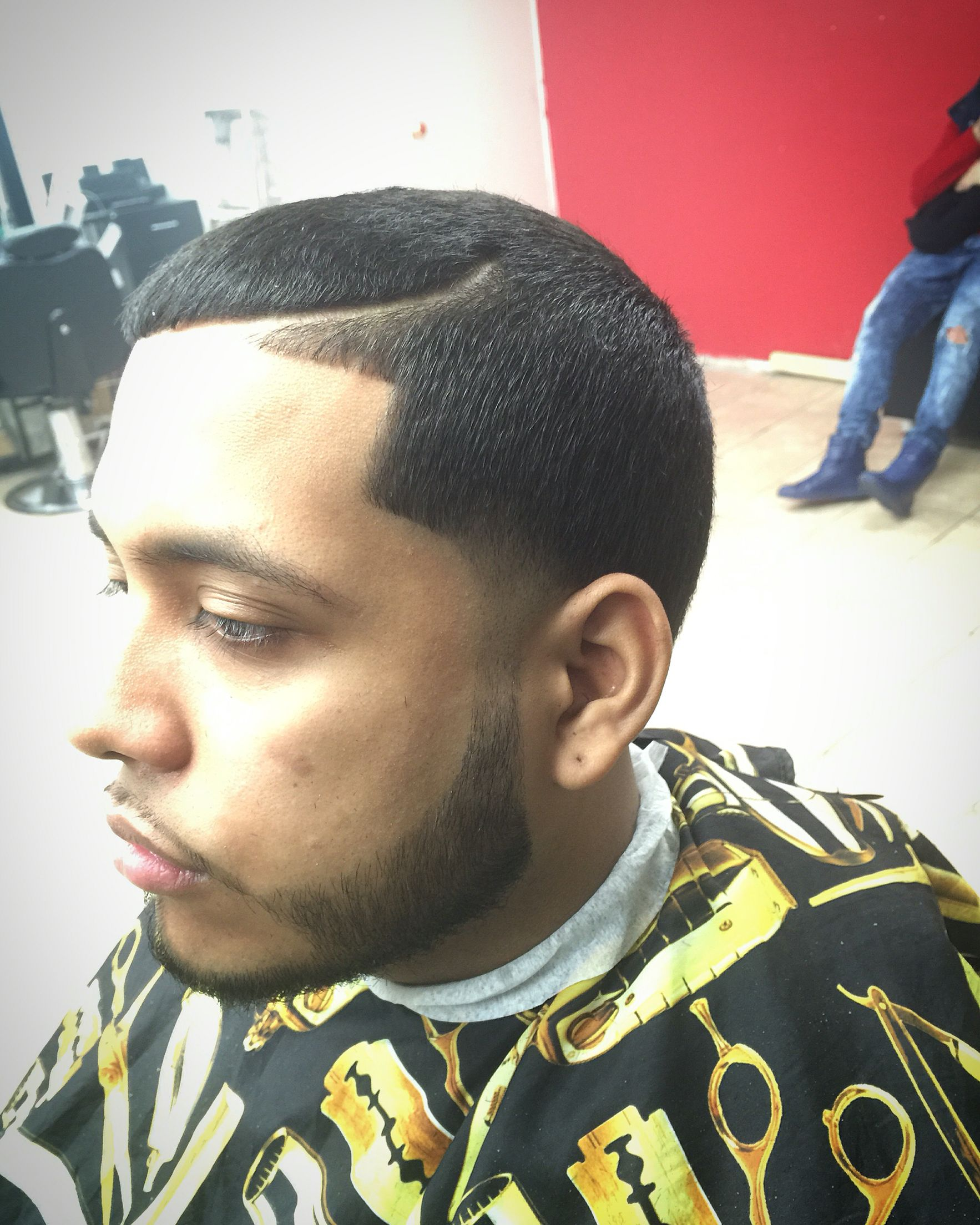 Side tape up faded beard and part Hair Cuts Pinterest