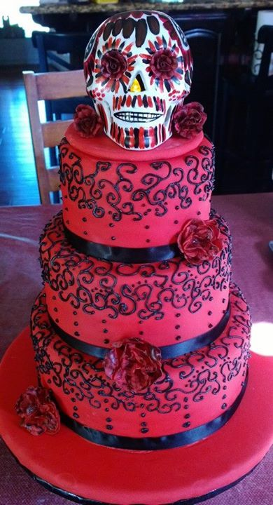 Dia de Los muertos quinceanera cake.