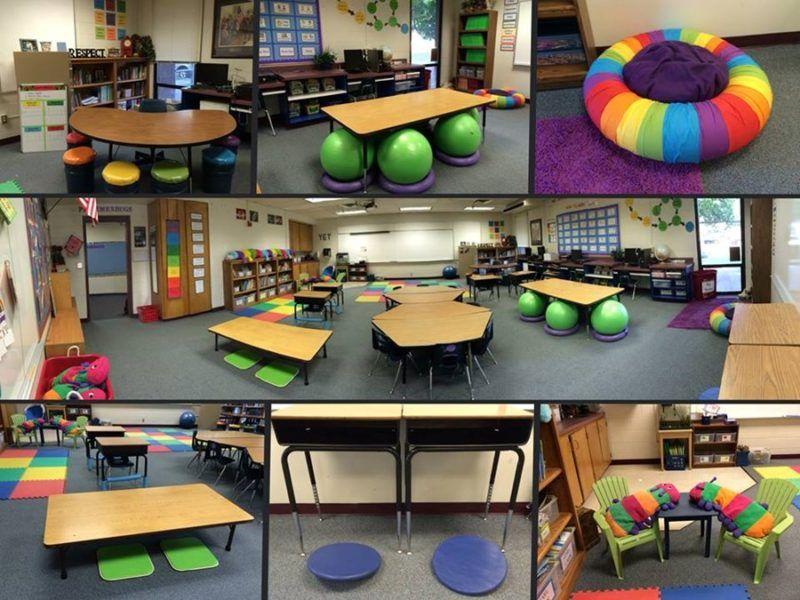 """Unconventional Classroom Design : Découvrez le concept du """"flexible seating ou """"classe"""