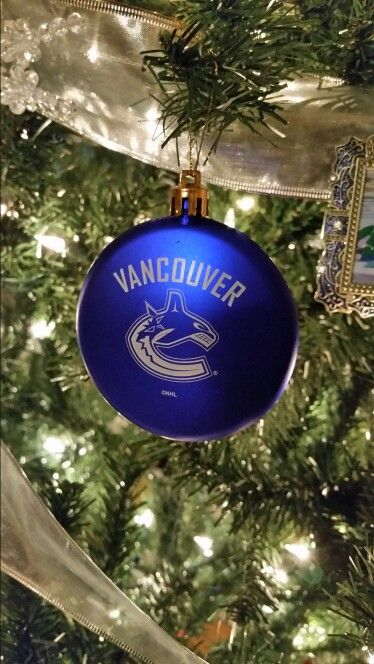 Vancouver Canucks Christmas Ornament Vancouver Canucks Christmas Ornaments Christmas Crafts