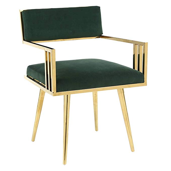 Best Amazon Com Homefun Velvet Arm Chair Accent Dining Chair 400 x 300