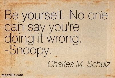 charles schultz quotes | Charles M  Schulz : Be yourself  No