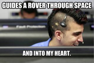 NASA's mohawk guy, Bobak Ferdowsi. Don't you love him?